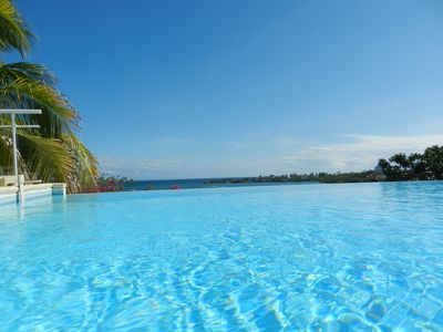 Photo for LUXURY VILLA WITH INFINITY POOL AND SEA VIEW DIRECT ACCESS TO THE BEACH