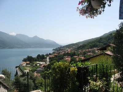 Photo for Lake Como, 2 bed apartment with gardens and superb lake view