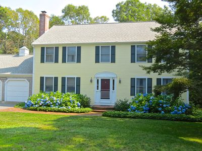 Handsome, well-kept colonial style home has plenty of space for your group of up to 10.
