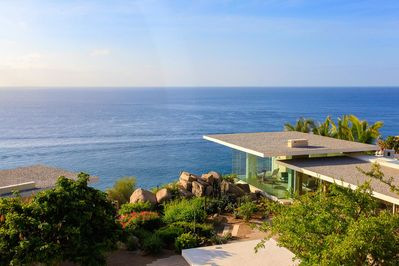 Stunning picturesque views of the ocean waves can be seen from the terrace of Casa Finisterra
