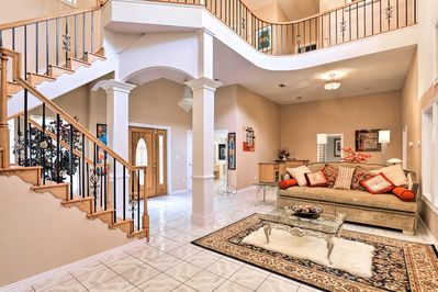 The palatial home boasts 4,600 square feet of interior space!