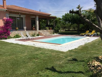 Photo for Country house with pool, BBC, pétanque on 800 m2 of garden.