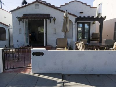 Photo for Beautifully appointed 1920s Spanish style casita located behind the house.