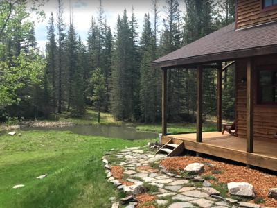 Photo for Peaceful cabin w/ pond and babbling creek off the beaten path w/ high speed net