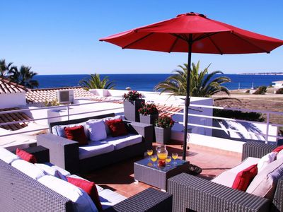 Photo for Villa Ventos do Mar II - 3 bedrooms, amazing sea views, only 50m to beach! Walk to restaurants