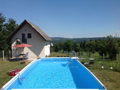 Photo for Beautiful rural holiday home in Nemesbük with private pool