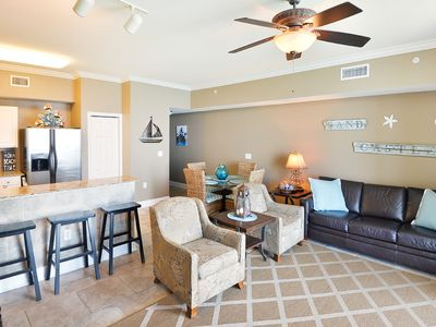 Photo for Gorgeous gulf-front condo w/shared hot tub, indoor/outdoor pools, sauna, & more!