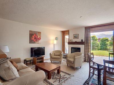 Photo for 3 piece apartment on ground floor, near the center.  Composition :  • Living room with fireplace