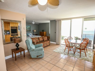 Photo for Estero Beach and Tennis 703B is a wonderfully remodeled, gulf-front studio condominium, with beautiful water views from every window.