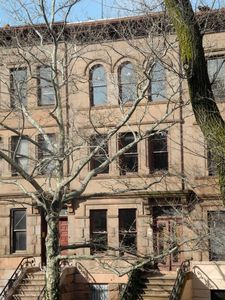 Our Victorian brownstone is on three floors, all overlooking the park
