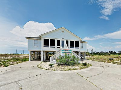 Photo for Updated Coastal Home w/ Gulf Views & Screened Porch - Walk 1 Minute to Beach!