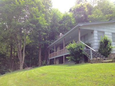 Photo for Tranquility -- 2 Bed 2 Bath  Private Cabin, Long Range View, WIFI, Small Pets