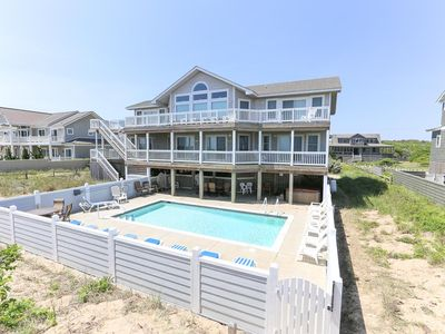 Photo for Captain's Lookout 7BR, 7full 2 half Bath, Oceanfront OBX with Private Pool - Southern Shores Realty
