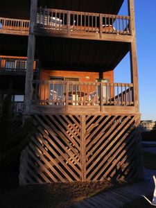 Enjoy the sunrise over the Atlantic Ocean from your deck!