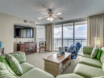 Photo for Crescent Shores 603, 4 Bedroom Beachfront Condo, Hot Tub and Free Wi-Fi!