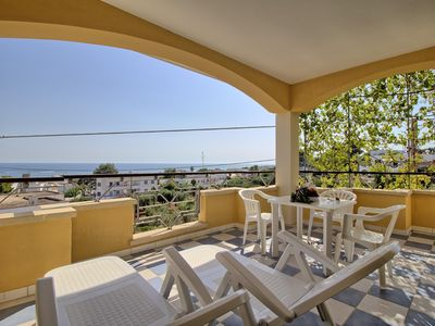Photo for Canarina  apartment in Marina di Pescoluse with private terrace & balcony.