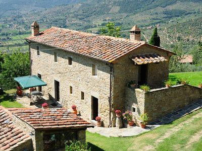 Photo for Vacation Home in Cortona with 2 bedrooms sleeps 4