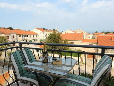 Photo for Two bedroom apartment with balcony and sea view Supetar, Brač (A-13165-a)