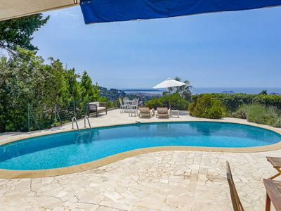 Photo for Holiday apartment in Cannes French Riviera, private pool and garden