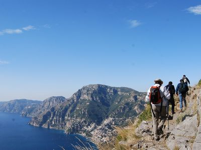 Photo for Hiking-suite, sea view, on the Amalfi Coast, near the Path of the Gods