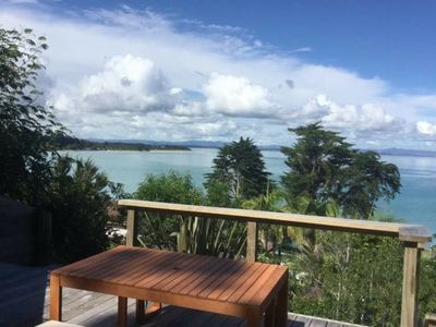 Photo for Stunning Beach Bach with expansive seaviews