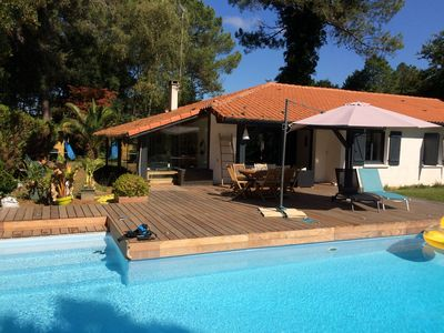 Photo for House in Hossegor with heated pool near Lake Marine