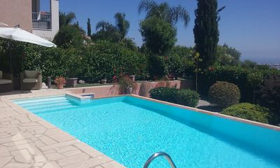 Photo for Luxury 3 bed double villa with large infinity pool and stunning views over