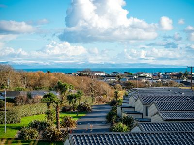 Photo for Within walking distance to the Warren beach, with uninterrupted sea views, this new lodge for 2019 i
