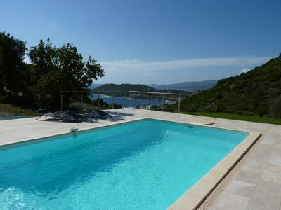 Photo for SUPERB CONTEMPORARY VILLA - SWIMMING POOL PANORAMIC SEA VIEW