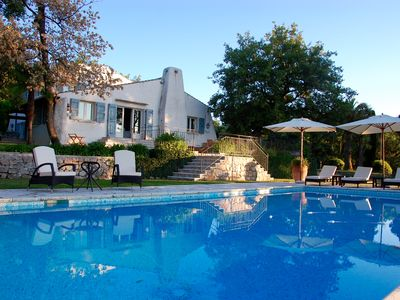 Photo for Beautiful Villa near Valbonne with Panoramic Sea and Mountain Views