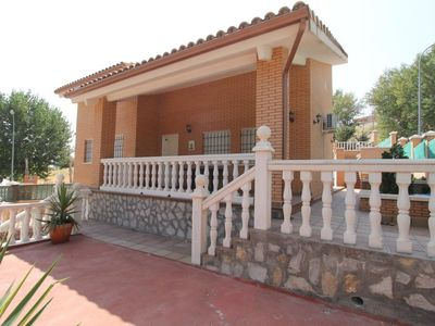Photo for 3 bedroom Villa, sleeps 14 with Pool, Air Con, FREE WiFi and Walk to Shops