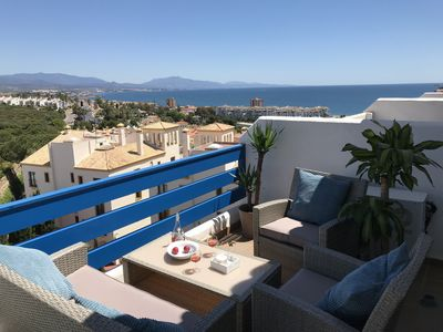 Photo for Brilliant 3 terrace penthouse in La Duquesa