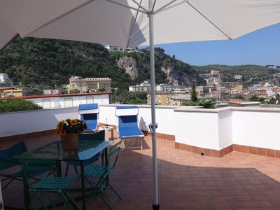 Photo for Apartment in charming condo, with pool and tennis court downtown Sorrento.
