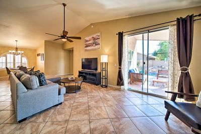This 3-bedroom, 2-bath home can host a group of 6.