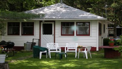 Photo for Charming two bedroom cabin on beautiful Pelican Lake.Large boat dock&ATV Trails.