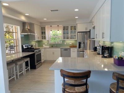 Brand new kitchen with top end appliances.