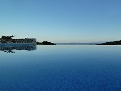 Photo for Luxury villa with fabulous infinity pool and amazing views of the Ionian Sea