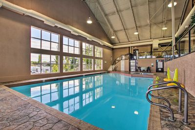 Enjoy casual dips in the community pool and hot tub!