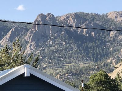 Photo for Historic downtown cabin w/ hot tub walking distance to attractions close to RMNP