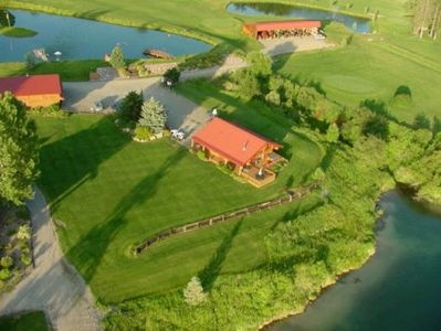 1,200 sqft guest log house at Serendipity Golf Course in Ione, WA