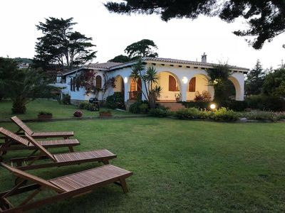 Photo for Rustic Villa Margherita with Terrace, Sea View, Wi-Fi & Air Conditioning; Parking Available, Pets Allowed