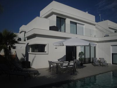 Photo for Laguna Villa private pool, golf and beach nearby in front of Lake Mata