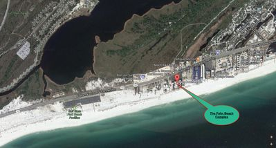 Palm Beach is just steps away from the Gulf State Park and the Backcountry Trail