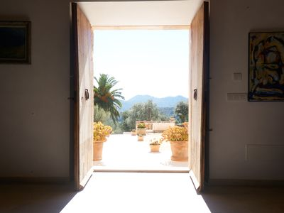 Photo for Traditional Mallorcan finca with panoramic views of the sea and the mountains