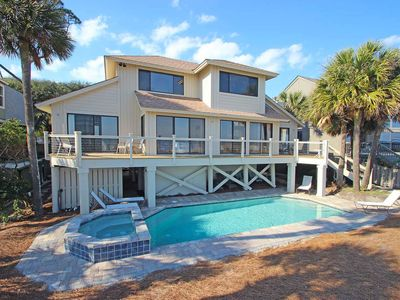 Photo for Oceanfront North Forest Beach home w/ priavte pool and spa!