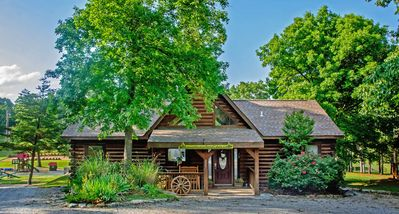 Awesome Log Cabin Overlooking Pool and Playground