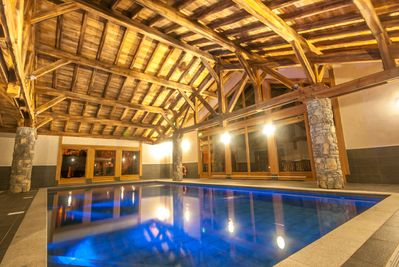 Stunning residents only indoor swimming pool.