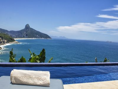 Photo for Rio387-7 bedroom mansion with pool in front of the sea