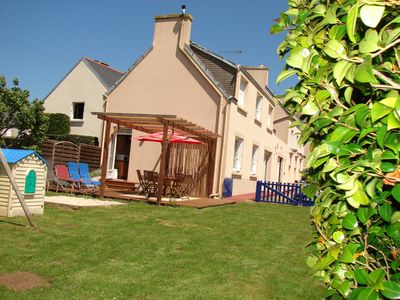 Photo for Nice house with walled garden in Plouhinec