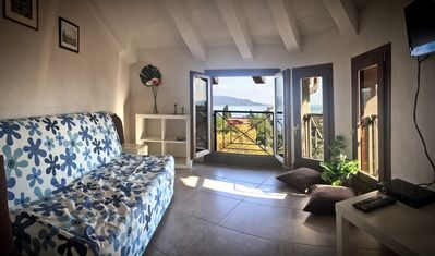 Photo for Casa Cecina STAR: in the ancient village, quiet with lake view